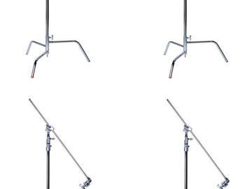 "Rent: 4x Matthews C-Stand w/ 2 .5"" Grip Head and 40"" Grip Arm Kit"