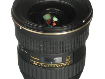 Rent: Tokina 11-16mm f/2.8 AT-X116 Pro DX - EF Mount Lens (APS-C)
