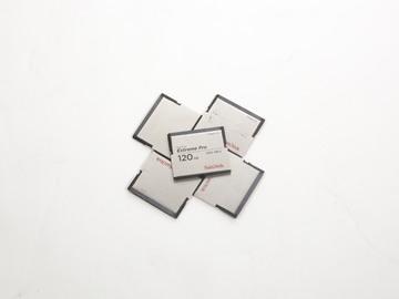 Rent: 5x SanDisk Sandisk Extreme Pro CFast cards, 120gb