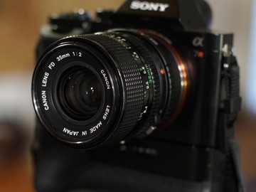 Rent: Sony Alpha a7R l + FD lens kit