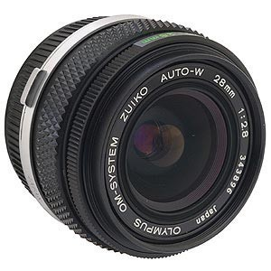 Olympus 28mm f/2.8 Manual lens with Adapter for Canon EF