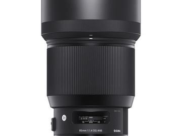 Rent: Sigma 85mm f/1.4 DG HSM Art Lens for Canon EF