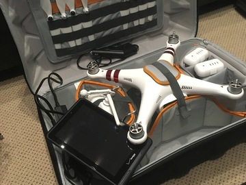 Rent: DJI Phantom 3 Drone Combo Incl. Tablet, Pack & 2 Batteries