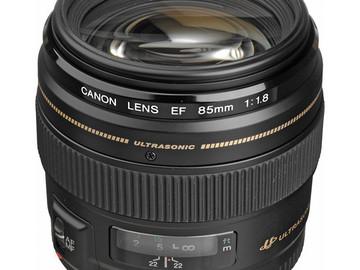 Rent: Canon 85mm 1.8/f Prime Lens
