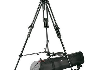 Rent: Manfrotto 503DV Fluid Head and 351MVB2K Three Tier Tripod