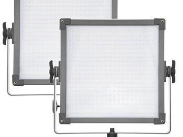 Rent: F and V 1x1 Daylight  LED 2 Light Kit