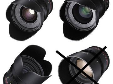 Rent: Rokinon 24, 35, 85mm T1.5 Cine DS Lens Kit for Canon EF