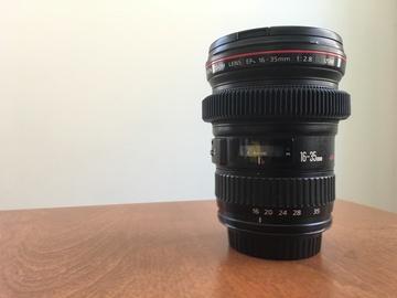 Rent: Canon EF 16-35mm f/2.8 L USM w/ Focus Gear