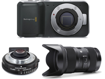 Rent: Indie Camera Package - Blackmagic Pocket + Metabones Speedbo