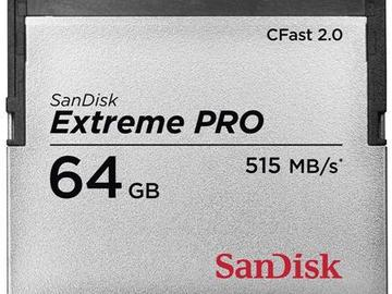Rent: CFAST CARD | SanDisk 64GB ExtremePRO CFast 2.0 Memory Card