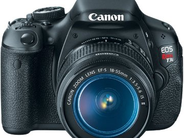 Rent: Canon t3i with kitlens and battery pack and Eye cup
