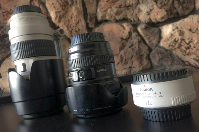 CANON ZOOM LENSES AND EXTENDER PACKAGE