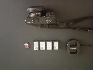 Rent: Sony Alpha a6300 Mirrorless Camera w/Speedbooster EF-E