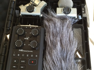 Rent: Zoom H6 With AT 896 plus 3 field recorder mics