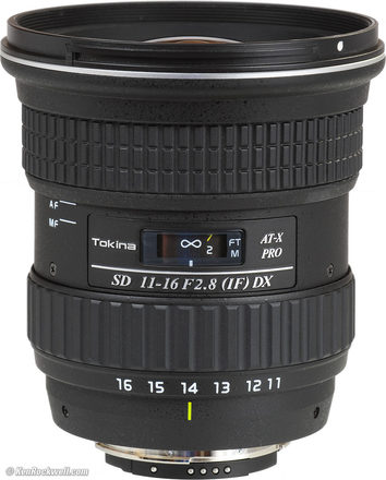 Tokina 11-16mm f/2.8 AT-X 116 Pro DX Canon APS-C