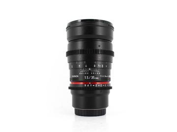 Rent: Rokinon 35mm T1.5 Cine DS, Micro 4/3 Fit
