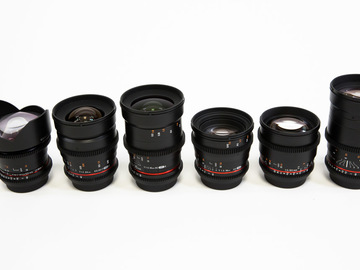 Rent: Full Rokinon Cine DS Lens Set (6 LENSES)