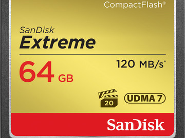 Rent: SanDisk 64 GB Extreme CompactFlash Memory Card