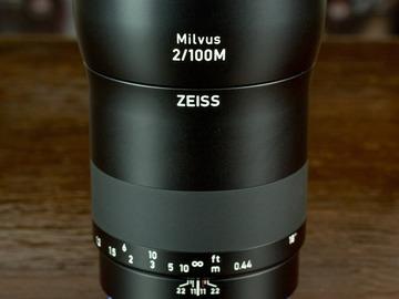 Rent: Zeiss Milvus Makro-Planar 100mm f/2 ZE