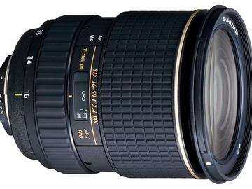 Rent: Tokina 16-50mm f/2.8 AT-X 165 PRO DX Autofocus- APS-C sensor
