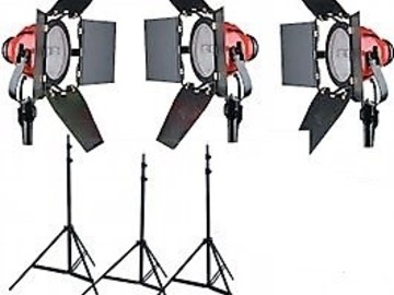 Rent:  Red Head 800w 3-pack kit with daylight correction