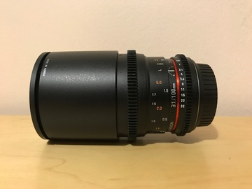 Rent: Rokinon Cine DS 100mm T3.1 Macro (Canon EF Mount)