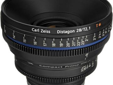 Rent: 28mm Zeiss CP2 T2.1 (114mm-D)