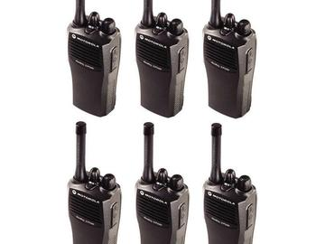 Rent: Motorola CP200 6 Walkie Kit w/ headsets