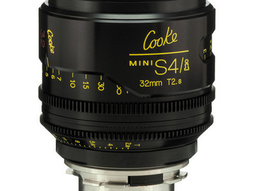 Rent: 32mm Cooke Mini S4/i T2.8 (87mm-D)