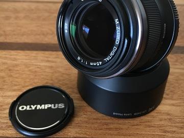 Rent:  Olympus  M.Zuiko 45mm f1.8 for Micro 4/3 (MFT)