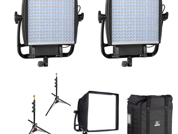 Rent: (2) Astra 1x1 Bi-Color LED Panel + Accessories