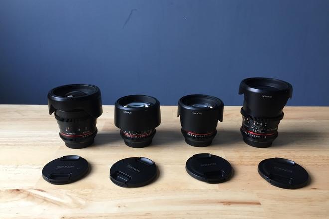 Rokinon cine DS prime lens 24, 35, 50,85