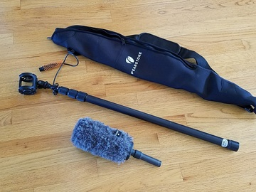 Rent: Rode NTG2 Shotgun Mic kit with boom pole
