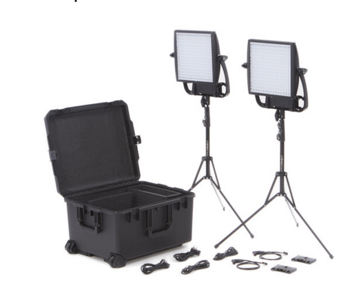 Litepanels Astra (x2) with Softboxes and Grids