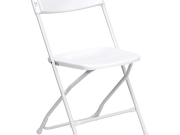 Rent: 15 White  Chairs