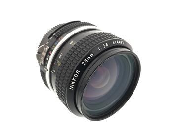 Rent: Nikon 28mm f/2.8 AI Prime Lens for Nikon F Mount