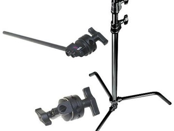 Rent: Avenger C-Stand with boom arm, black steel