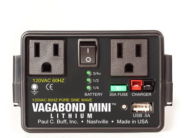 Rent: Vagabond Mini Lithium Battery Pack w/ charger and extra batt