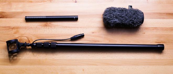 Rode Shotgun NTG4+  Microphone with K-Tec KE89CC Boompole