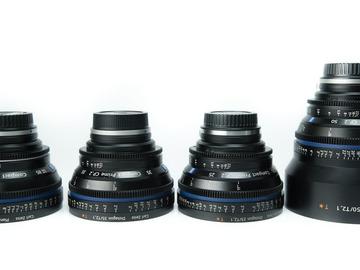 Rent: Zeiss CP.2 Compact Primes - 4 Len Kit