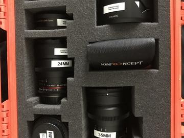 Rent: Rokinon Cine Lens Set w/ filters EF mount