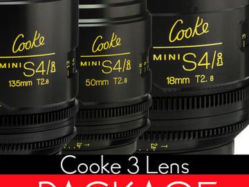 Rent: Cooke Mini s4/i Lenses (Set of 3)