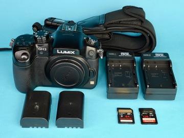 Rent: Panasonic Lumix GH3 with 2 Batteries, 128GB+64GB SDXC (B)