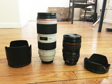 Rent: Package - Canon EF 70-200mm f2.8 IS II + 24-105 f4 IS