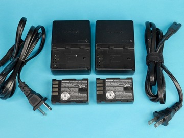 Rent: 2 Genuine Panasonic Lumix GH4/GH5 Batteries w/ 2 chargers