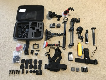Rent: GoPro HERO5 Black and Session 5 Camera and Gears