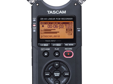 Rent: Tascam DR-40 Handheld Audio Recorder