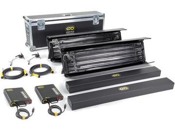 Rent: Kino Flo Lighting Kit w/ 2- 4 X 4 Bank 2-C-stands 2-SandBags