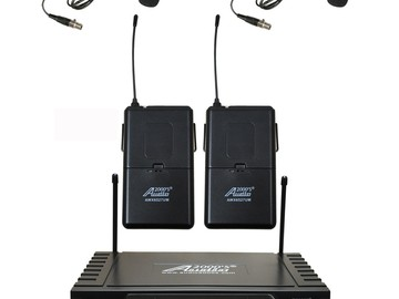 Rent: UHF Wireless Lapel Microphone System