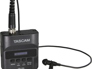Rent: Tascam DR-10L Digital Audio Recorder with Lavalier Mic